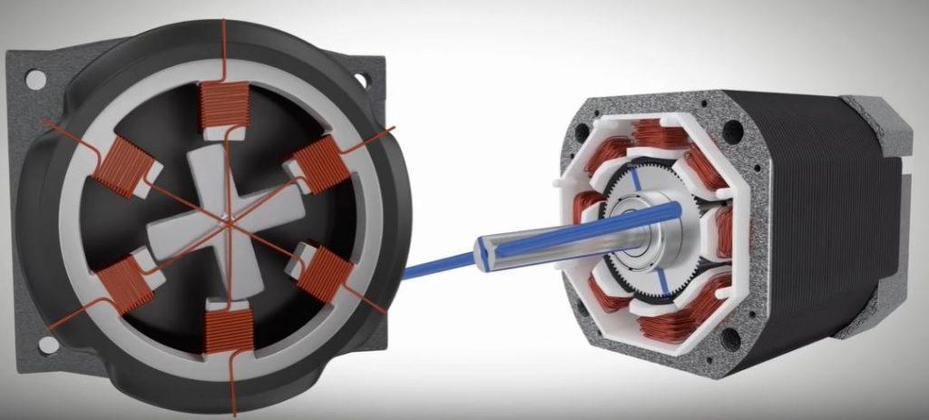 Шаговые двигатели обеспечивают хорошую производительность по экономичной цене для приложений,  требующих низкой скорости, ускорения и точности