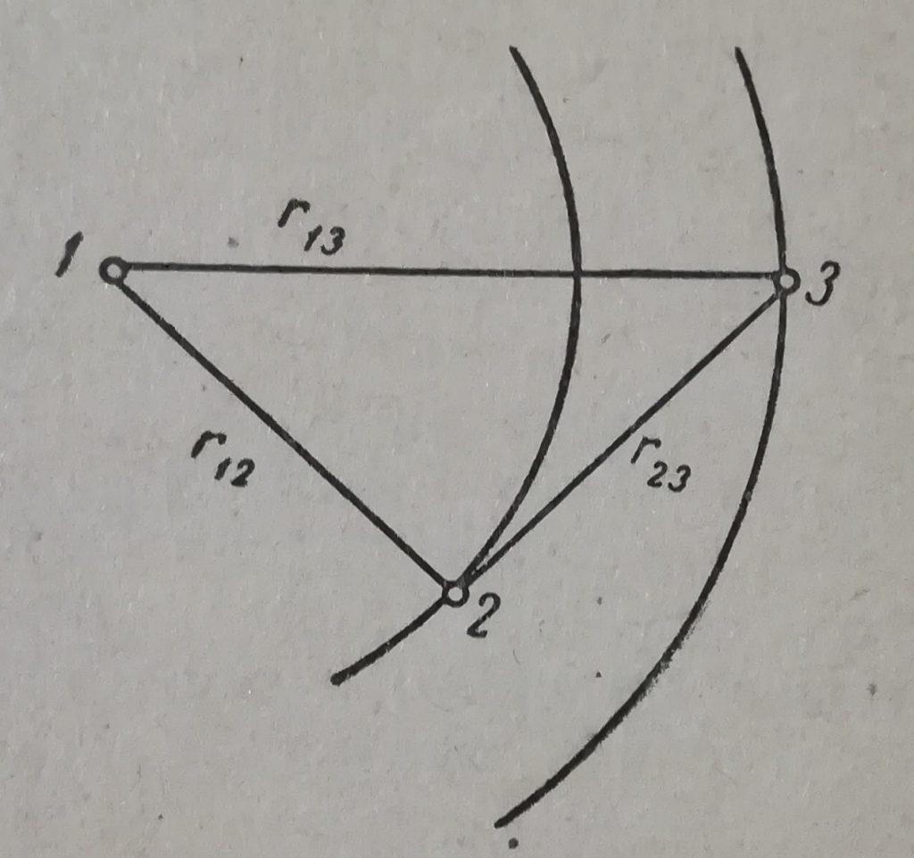 Три параллельных провода радиуса r расположенные на определенных расстояниях друг от друга
