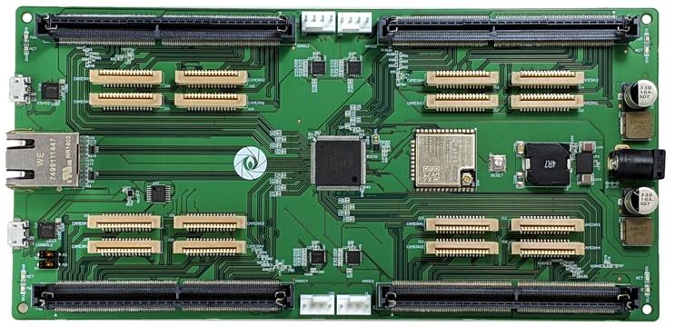 Плата Gumstix Jetson Nano Snapshot Board предназначена для приложений со встроенными камерами и содержит четыре модуля с четырьмя входами для камер