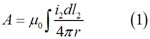 Вычисление векторного потенциала в точке контура