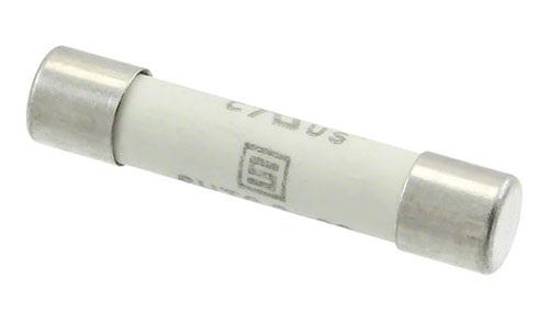 Предохранитель Schurter 1000-V, 1-A состоит из керамической трубки с маркировкой на ней