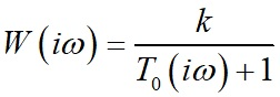 Амплитудно-фазово частотная характеристика (АФХ) для апериодического звена