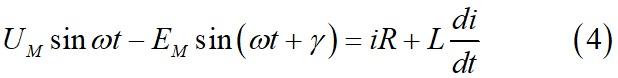 Преобразованное уравнение электрической цепи для тиристорного элемента