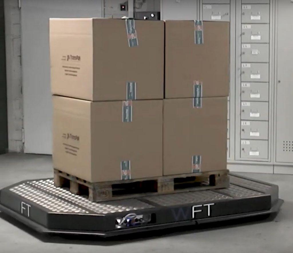 Система модульного индивидуального транспорта (MIT) WFT может работать индивидуально или в группе из нескольких коботов