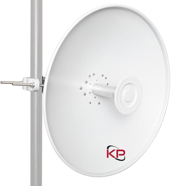 Параболическая антенна, покрывающая 4,9–6,4 ГГц, имеет усиление в диапазоне от 27,5 до 29,8 дБи, в зависимости от частоты