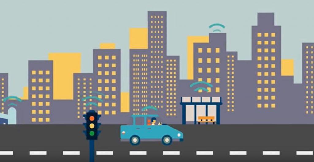 Использование интернет вещей в автомобиле позволяет ему коммуницировать с умной инфраструктурой и значительно упрощать жизнь водителям
