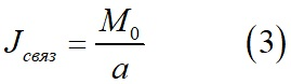 Плотность связанного тока внутри вещества