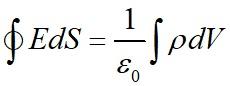 Уравнение, связывающее поток вектора напряженности поля через замкнутую поверхность и заряд