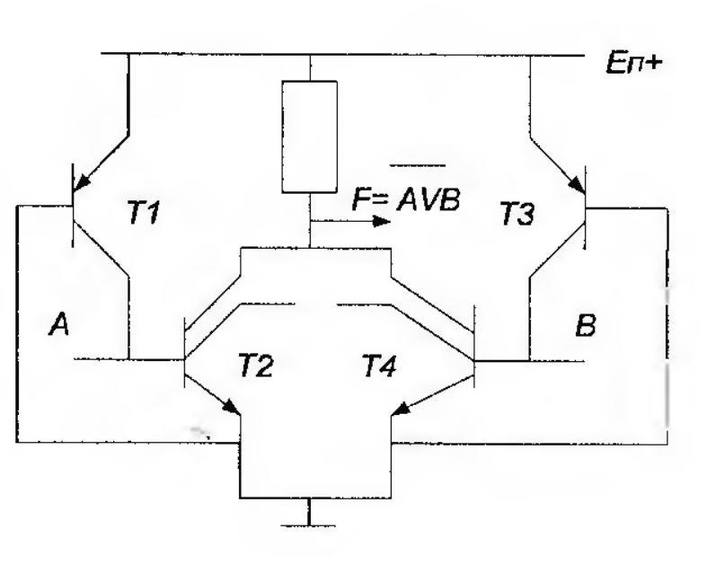 Функциональная схема ИЛИ-НЕ в И2Л логике