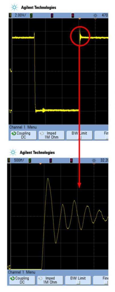 Снаббер демпфирует скачки напряжения и перегрузку из-за быстрой коммутации больших токов