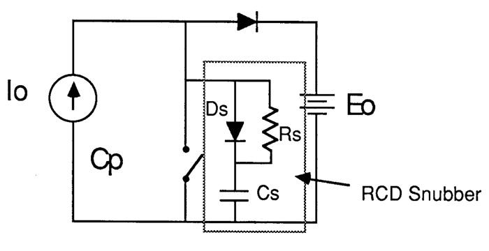 В демпфирующей цепи RCD используется диод для управления током, чтобы не тратить энергию при включении коммутатора