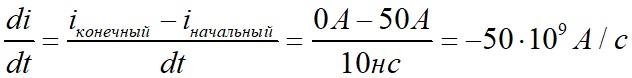Ток отключения интегральной схемы при наличии индуктивности в цепи