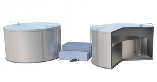 Предлагаемая система хранения возобновляемой энергии TEGS-MPV, или «солнце в коробке», преобразует электричество, генерируемое, скажем, солнечным светом или ветром, в тепловую энергию