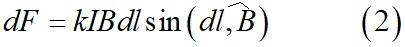 Закон Ампера формула