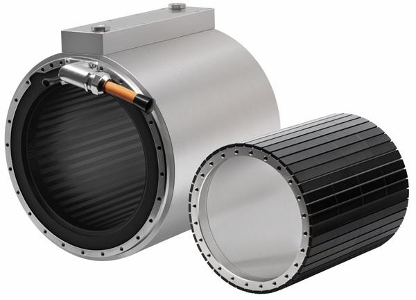 ETEL TMB + синхронный моментный двигатель состоит из ротора и статора, а также может быть оснащен дополнительной охлаждающей рубашкой