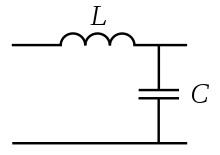 Примитивный LC фильтр для снижения гармонических колебаний сети