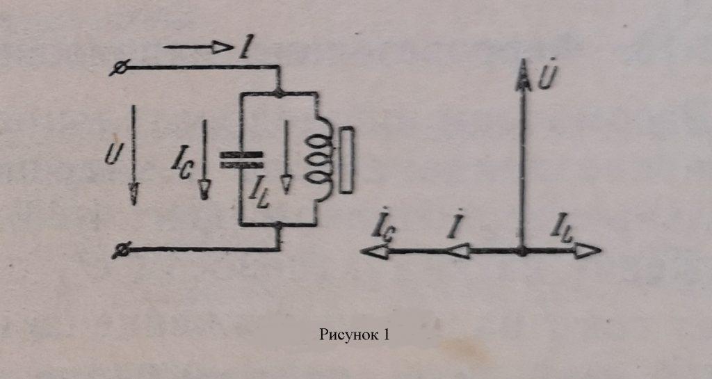 Феррорезонанс токов схема и векторная диаграмма