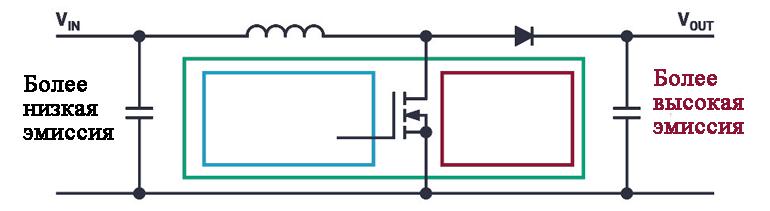 Показана принципиальная схема boost преобразователя для светодиодных драйверов