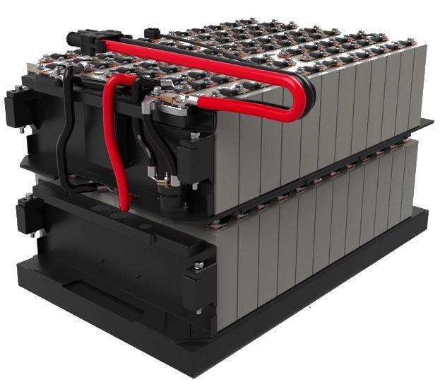 Аккумулятор для вилочного погрузчика среднего формата основан на элементах LFP емкостью 100 Ач