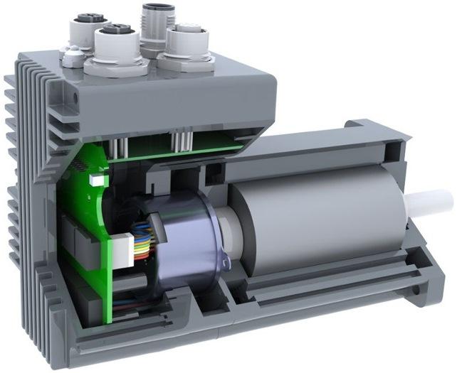 Многооборотный абсолютный энкодер с эффектом Виганда внутри двигателя
