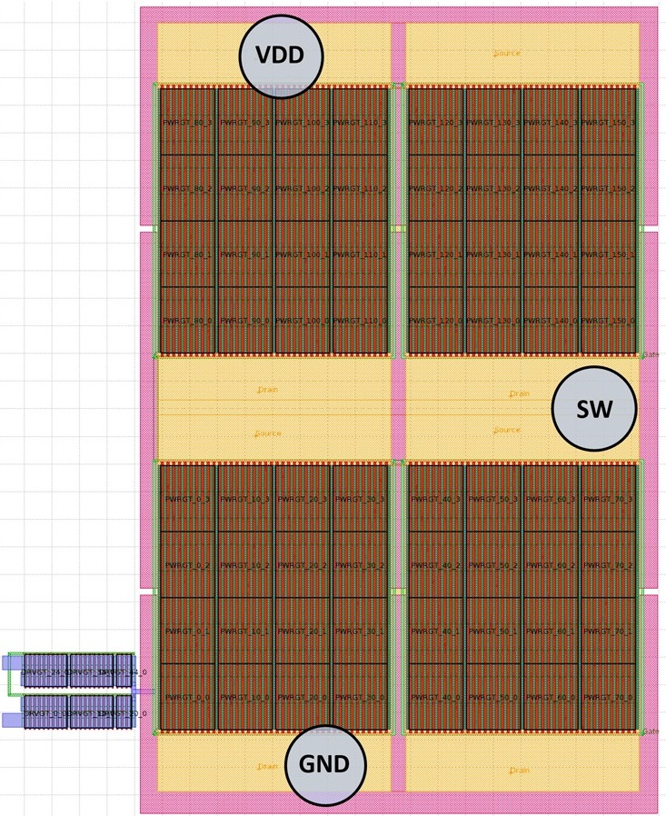 Представлении физической схемы выходной каскад полевого MOSFET транзистора