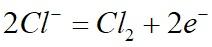 Процесс окисления ионов хлора