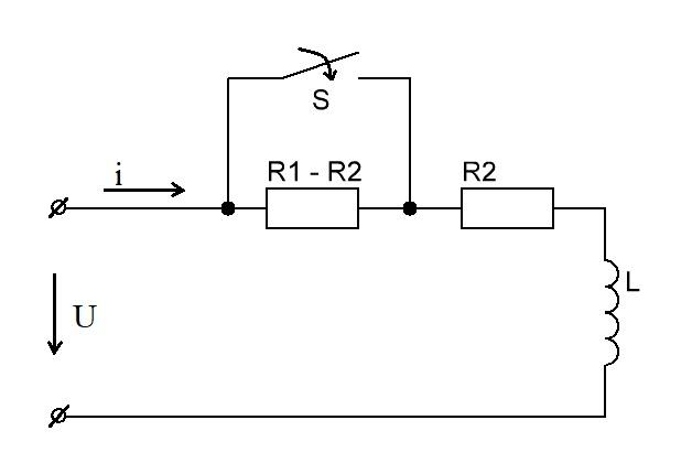 Резкое закорачивание сопротивления в цепи постоянного тока с помощью рубильника